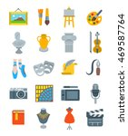 art and crafts flat vector... | Shutterstock .eps vector #469587764