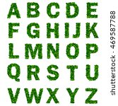 green leaf alphabet with letters | Shutterstock . vector #469587788