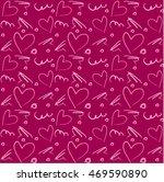 beautiful seamless romantic... | Shutterstock .eps vector #469590890