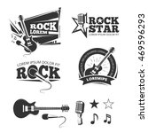 rock music shop  recording... | Shutterstock .eps vector #469596293