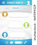 vector chat box with speech... | Shutterstock .eps vector #469599329
