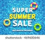 vector summer sale background... | Shutterstock .eps vector #469600646