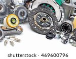 new car parts on a gray... | Shutterstock . vector #469600796