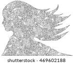 fantastic flowers woman. spring ... | Shutterstock .eps vector #469602188