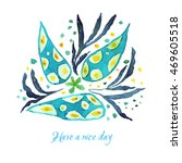 greeting card with colorful... | Shutterstock . vector #469605518