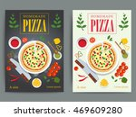 set of bright pizzeria... | Shutterstock .eps vector #469609280