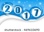 new year 2017 in blue... | Shutterstock .eps vector #469610690