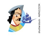 the portrait of the russian... | Shutterstock .eps vector #469612154