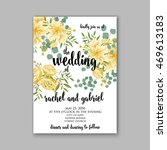wedding invitation or card with ... | Shutterstock .eps vector #469613183