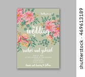 wedding invitation or card with ... | Shutterstock .eps vector #469613189