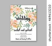 wedding invitation or card with ... | Shutterstock .eps vector #469613210