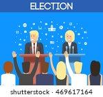 2016 usa election vector image. ... | Shutterstock .eps vector #469617164