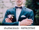 handsome groom at wedding... | Shutterstock . vector #469623560