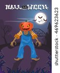 happy halloween banner jack... | Shutterstock .eps vector #469623623
