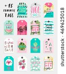 15 summer hand drawn... | Shutterstock .eps vector #469625018