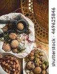 vintage still life  almonds  ...   Shutterstock . vector #469625846