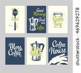 set of coffee sketch. hot... | Shutterstock .eps vector #469629278