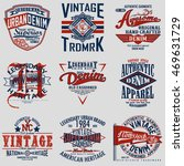 set of vintage typography  t...   Shutterstock .eps vector #469631729