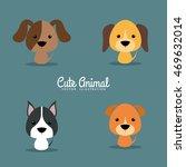 cute cartoon dogs   Shutterstock .eps vector #469632014