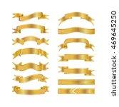 golden ribbons isolated on... | Shutterstock .eps vector #469645250