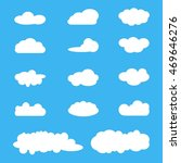 clouds icon set  white clouds... | Shutterstock .eps vector #469646276