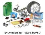car parts  3d rendering...   Shutterstock . vector #469650950