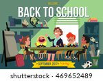 back to school. happy children... | Shutterstock .eps vector #469652489