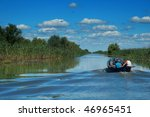 fishermen on a canal in the... | Shutterstock . vector #46965451