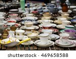 decorated coffee mugs made of...   Shutterstock . vector #469658588