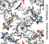 drawing seamless pattern with...   Shutterstock . vector #469661114