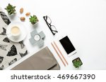 styled collection of home... | Shutterstock . vector #469667390