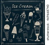 set of chalkboard style ice... | Shutterstock .eps vector #469668740