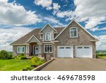 a beautiful new house on a... | Shutterstock . vector #469678598