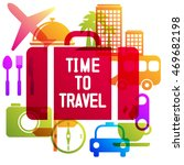 time to travel  travel ling on... | Shutterstock .eps vector #469682198