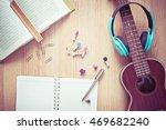 top view of vintage tone... | Shutterstock . vector #469682240