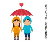 girl sweater boy love heart... | Shutterstock .eps vector #469693328