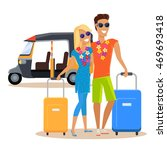 people traveling together... | Shutterstock . vector #469693418