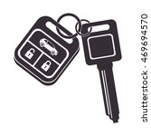 car key security keychain metal ... | Shutterstock .eps vector #469694570