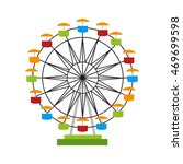 ferris wheel fair entretaiment... | Shutterstock .eps vector #469699598