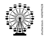 ferris wheel fair entretaiment... | Shutterstock .eps vector #469699628