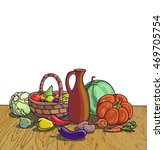 autumn harvesting. vector...   Shutterstock .eps vector #469705754