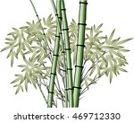 vector chinese painting bamboo | Shutterstock .eps vector #469712330