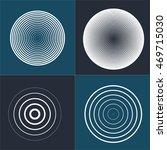 radar screen concentric circle... | Shutterstock . vector #469715030