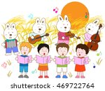 the concert of night children... | Shutterstock .eps vector #469722764