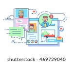 social communication network | Shutterstock .eps vector #469729040