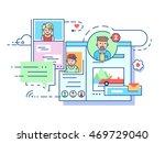 social communication network | Shutterstock .eps vector #469729040