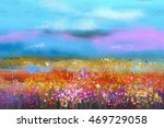 abstract colorful oil painting... | Shutterstock . vector #469729058