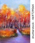 oil painting landscape  ... | Shutterstock . vector #469729064