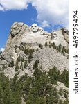 Small photo of Black Hills; Mount Rushmore National Memorial; vlnr: George Washington, Thomas Jefferson, Theodore Roosevelt, Abraham Lincoln