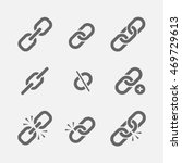 links icon vector set isolated... | Shutterstock .eps vector #469729613